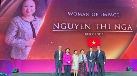 Madame Nguyen Thi Nga, Chairman of BRG Group honored with Woman of Impact Award