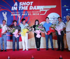 "BRG Ruby Tree Golf Resort hosts ""A Shot In The Dark"" night golf tournament to switch on its world class lighting system"