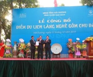 Announcement ceremony for Chu Dau Ceramic Village tourist attraction