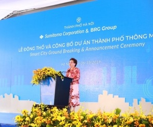 Official breaking ground and announcement ceremony for the Smart City project in the North of Hanoi
