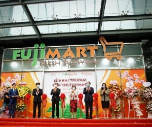 OFFICIAL OPENING OF SECOND FUJIMART SUPERMARKET AT 36 HOANG CAU, HANOI